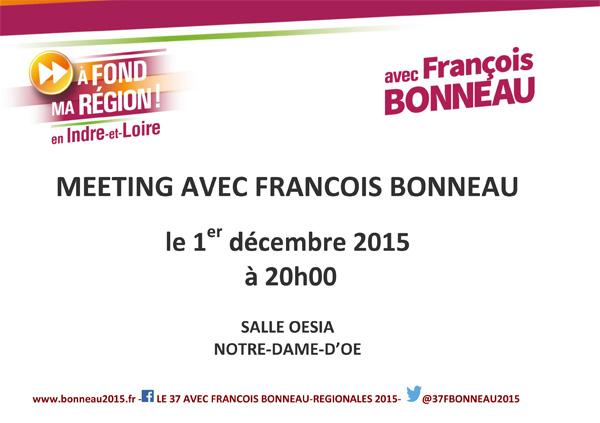 MEETING AVEC FRANCOIS BONNEAU 1ER DECEMBRE
