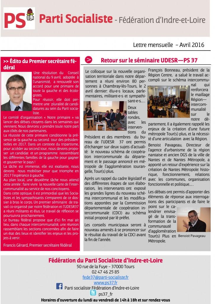 Newsletter fede avril 2016-1