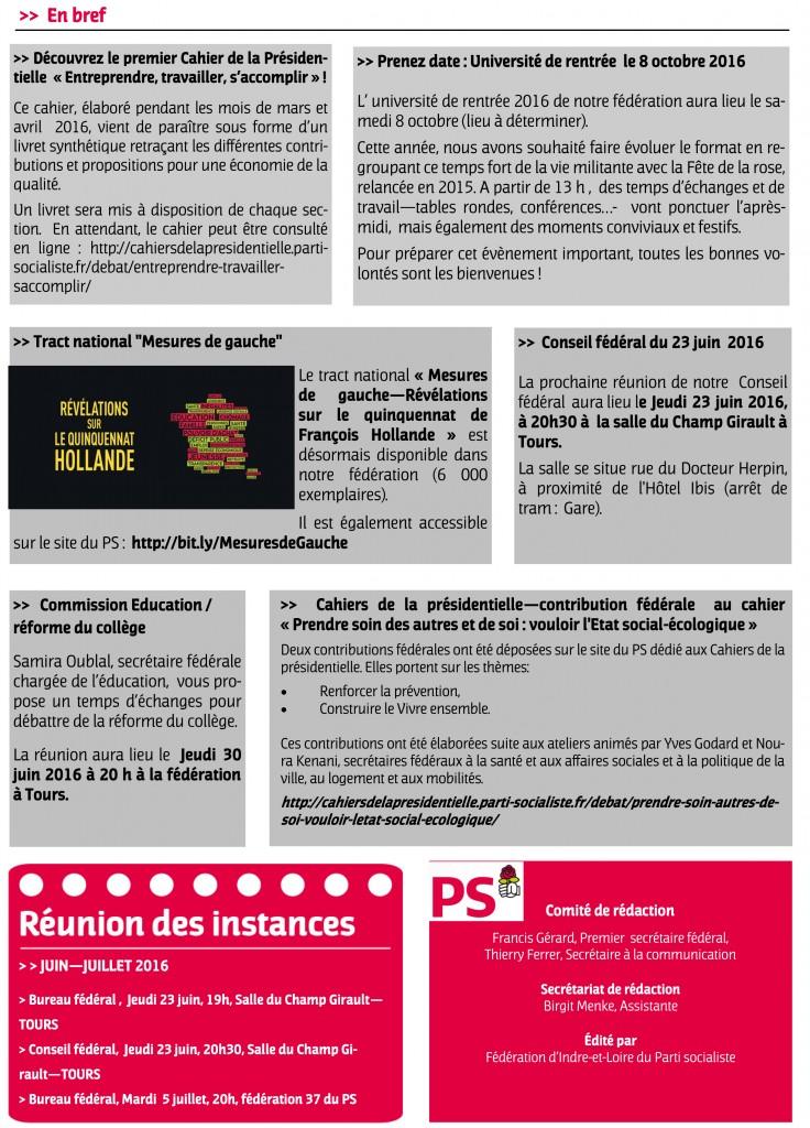 Newsletter fede juin 2016-2