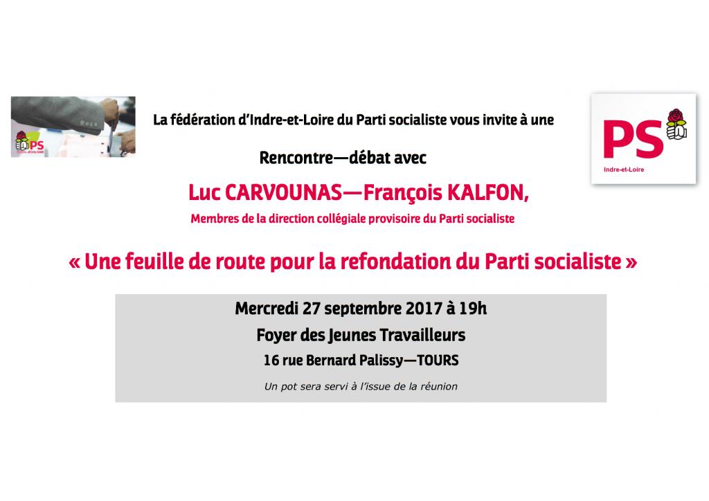 Invitation Réunio débat 27 09 2017