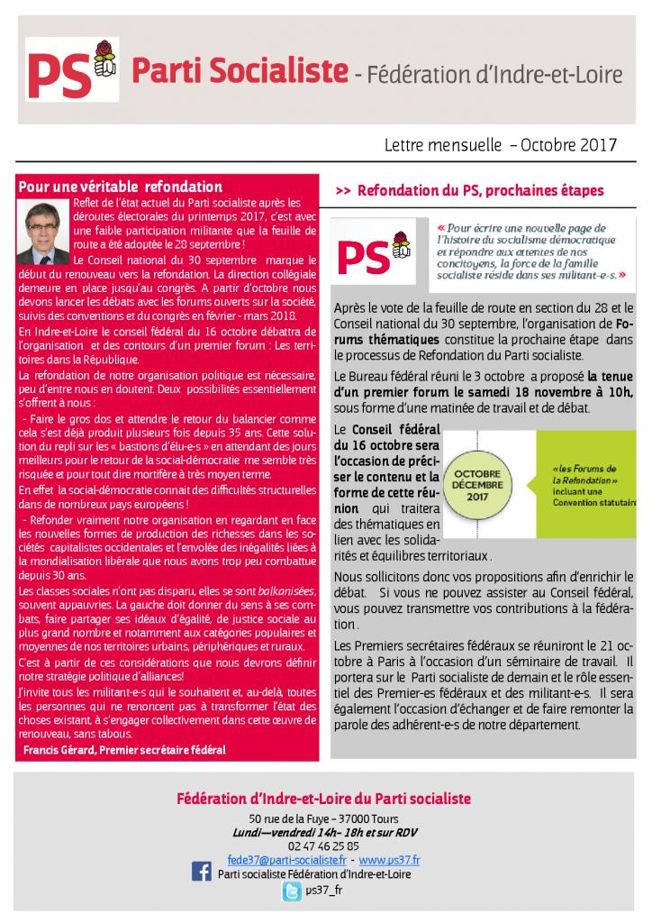 Newsletter fédé octobre 2017.pub