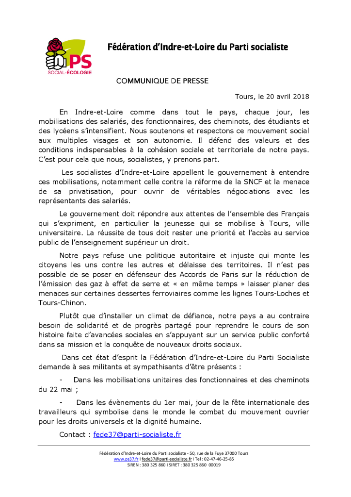 Communiqué de presse 20_04_18_Mouvement_social